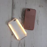 PERFECT SELFIE Light Up Phone Rose Gold Case Iphone5