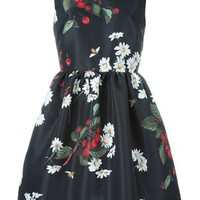 Red Valentino Floral Print Sleeveless Dress - Luisa Boutique - Farfetch.com