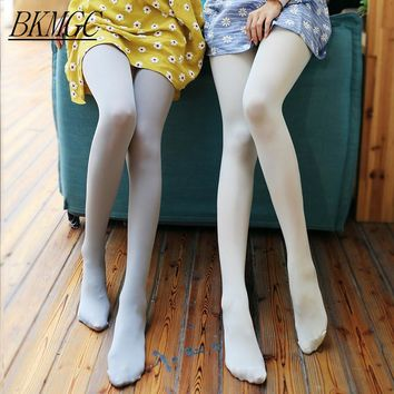 New Fashion Spring And Autumn Women Tights Stockings 120D Velvet Dumb Light Silk Gray Shallow Rendering Female Pantyhose