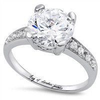 The Aristocrat, A Perfect 4CT Round Brilliant Cut Solitaire Russian Lab Diamond Engagement Ring