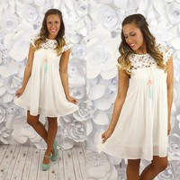 Delicate Balance Dress in Off White