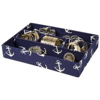 Five Section Jewelry Tray Drawer Organizer (Navy Blue)