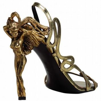 RARE ALEXANDER MCQUEEN ANGEL HEELS SIZE EU 39.5 ANGELS AND DEMONS COLLECTION | eBay
