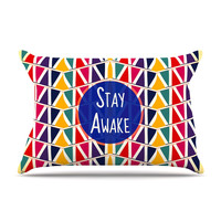 "Famenxt ""Stay Awake"" Yellow Multicolor Pillow Case"