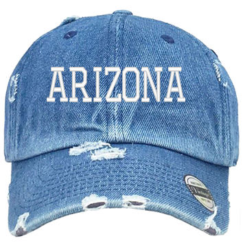 Arizona Embroired Distressed Baseball