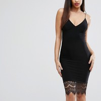 Club L Lace Hem Cami Midi Dress at asos.com