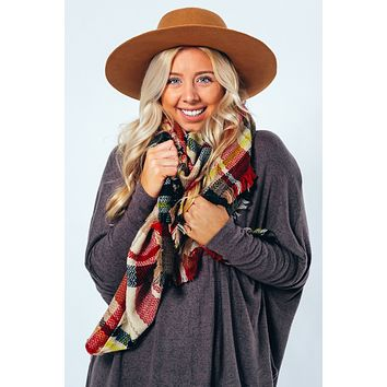 Always The Answer Blanket Scarf: Multi