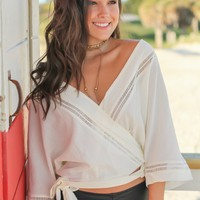 Cream Wrap Top