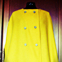 Christmas sale 10% off Retro cape/ Yellow cape/ chic cape/ wool cape/ winter cape/ autumn cape/ elegant cape MADE TO ORDER
