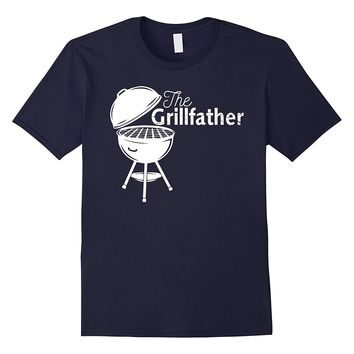 Men's Camping The Grillfather Barbeque and Grilling T Shirt