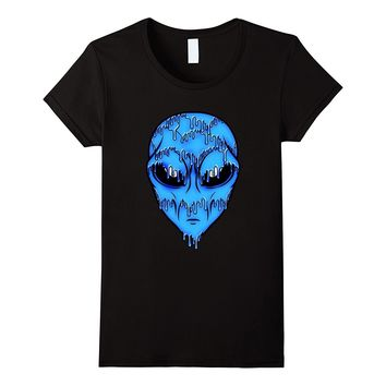 Blue Trippy Alien T-Shirt