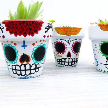 Sugar Skull Planter - Day of the Dead