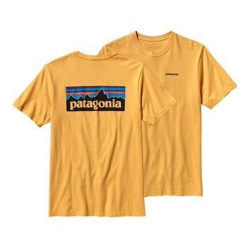 Patagonia Men's P-6 Logo Cotton T-Shirt | Mellow Yellow