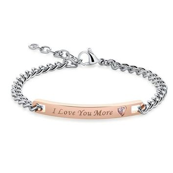 Luxury Couple I Love Your Most & I Love Your More Unique Bracelet Charms