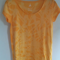 Ladies orange acid wash T-shirt size 12