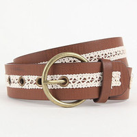 Lace Inset Jean Belt