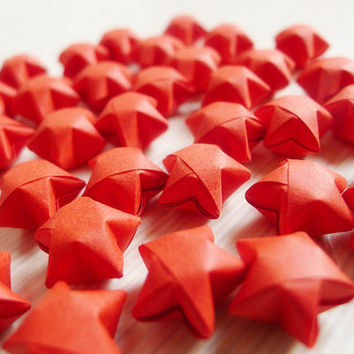 Romantic Red Origami Lucky Stars-Wishing Stars For Table Decor/Party Supply/Gift Enclosure