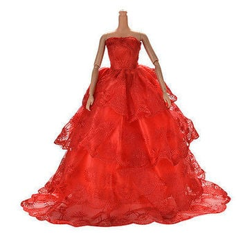10 Pcs Party Wedding Dresses Clothes Gown For Barbie Dolls Girls Random Style HU