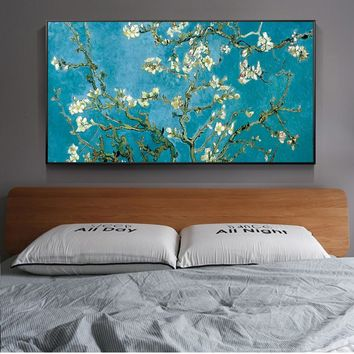 Almond Blossom Paintings On The Wall By Van Gogh Impressionist Almond Blossom Wall Art Canvas Prints Cuadros Pictures Home Decor