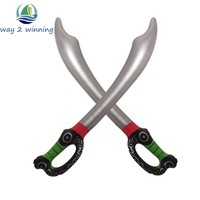 Inflatable Pirate Sword Cutlass Child Not Wounding Weapon Toy Halloween Fancy Dress Costume Accessory Party Supply Blow Up Toy