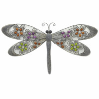 10459 Metal Wall Art Dragonfly-Benzara