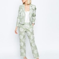 ASOS Occasion Jacquard Crop Trouser Co-ord