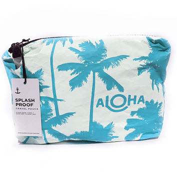 ALOHA COLLECTION Small Pouch - Coco Palms Shave Ice Blue
