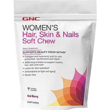 GNC Women's Hair, Skin & Nails Soft Chew - Acai Berry