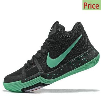 Spring Summer 2018 Cheap Kyrie 3  Black Green Mint Irving Shoes 2017 sneaker