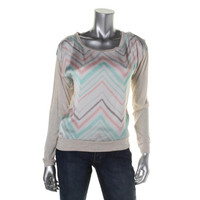 Jolt Womens Juniors Knit Chevron Blouse