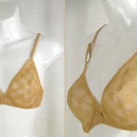 VTG NOS (New Old Stock) 60s-70s BALI Lace Semi-sheer Shapelace Bra 34-B