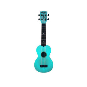 Makala MK-SWG/BL Waterman Glow in The Dark Aqua Blue Soprano Ukulele