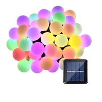 Solar Globe Ball String Lights Solar Powered Lighting for Home Garden Lawn Party Decorations