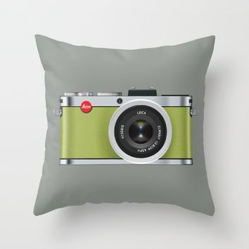 Leica X1 Throw Pillow by Miguel Angélus Batista