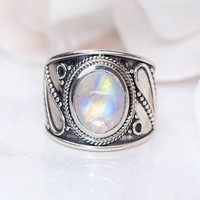 Moonstone Ring - Cosmic Love
