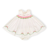 White & Pink Floral Dress & Bloomers | zulily