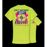 Southern Couture Softball Ain't Nothing Soft About It Front Print Girlie Bright T Shirt