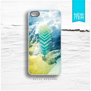 iPhone 4 and iPhone 4S case Tribal Feather, Sky Geometric Texture T134
