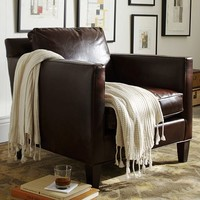 ANDERSON LEATHER ARMCHAIR