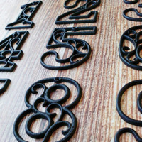 House Numbers Cast Iron Wall Hangers Decorative Victorian Decor 4.5 inches Table Numbers