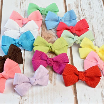 Baby Hair Bows, Infant Hair Clips,Hair Bows, Girls Hair Bows, Baby Bows, Toddler Hair Bows, Small Bows, Alligator Clips, Snap Clips, 200