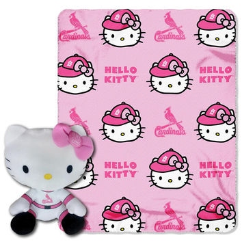 St. Louis Cardinals MLB Hello Kitty with Throw Combo