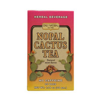 Only Natural Nopal Cactus Tea Caffeine Free Natural Mint 20 Tea Bags