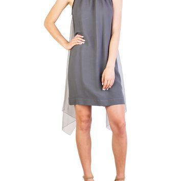 Prada Women's Acetate Viscose Blend Winged Dress Grey (Size: 44, Color: Grey)