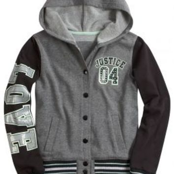 Embellished Varsity Jacket | Girls Outerwear Clothes | Shop Justice