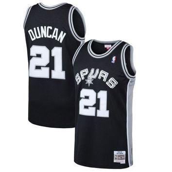 Mens San Antonio Spurs Tim Duncan Mitchell & Ness Black 1998-99 Hardwood Classics Swingman Jersey