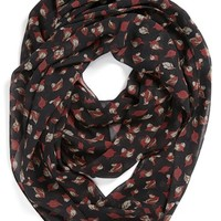David & Young Bird Print Infinity Scarf (Juniors) | Nordstrom