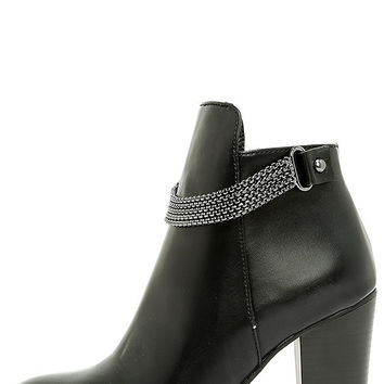 Wilona Black Ankle Booties