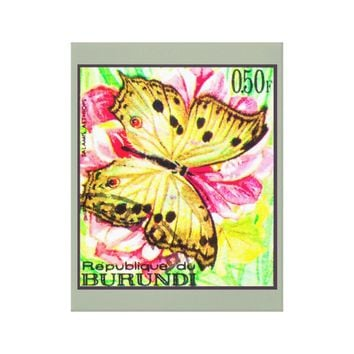 Butterfly Salamis Aethiops Canvas Print
