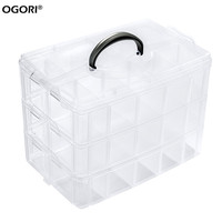 30 Grids Clear Plastic Storage Box For Toys Rings Jewelry Display Organizer Makeup Case Craft Holder Container porta joias